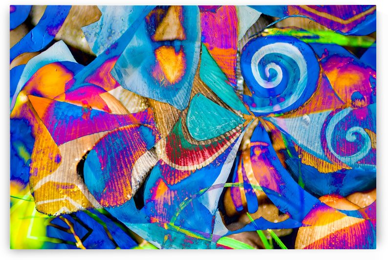 bright colors abstract shapes by BBS Art