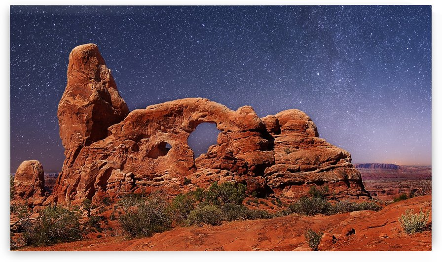 Arch at Night by Pamela Winter