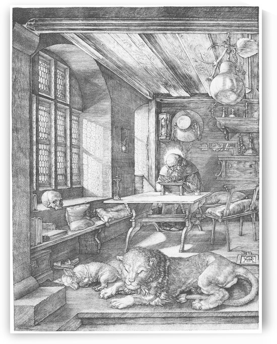 Saint Jerome in His Study Room by Albrecht Durer