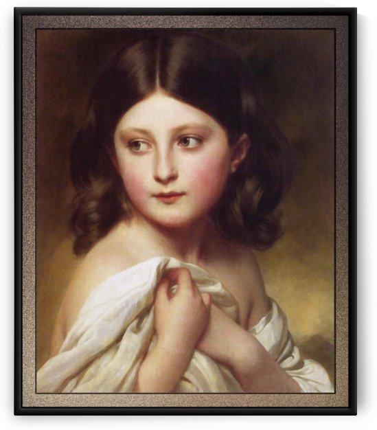A Young Girl Called Princess Charlotte by Franz Xaver Winterhalter by xzendor7