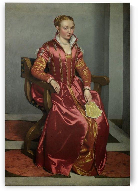 Portrait of a Lady ('La Dama in Rosso') by Giovanni Battista Moroni