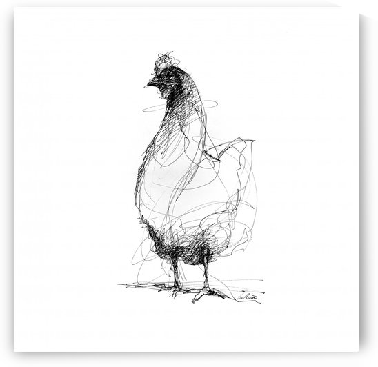 10x10 toile verni mat 4  by Lea Riviere