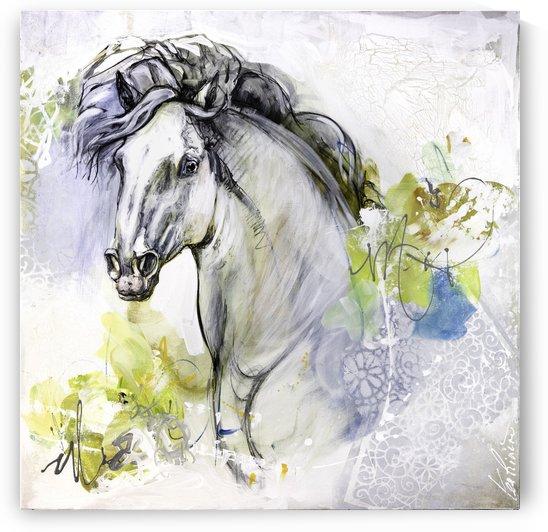 24x24 toile verni mat 3  by Lea Riviere