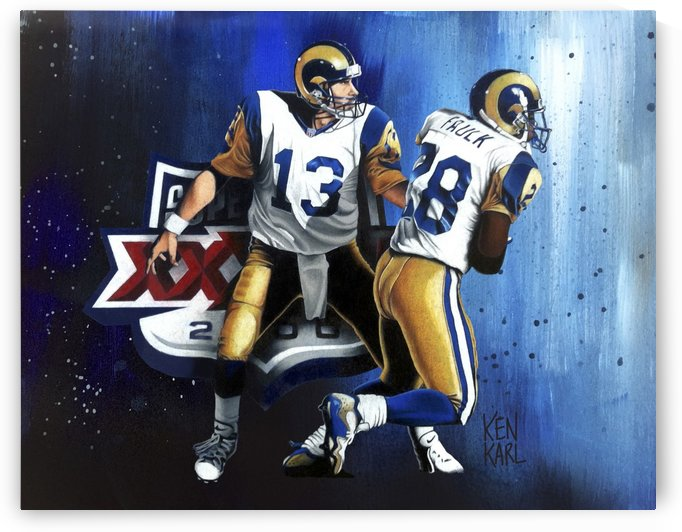 RAMS Superbowl 2000 by Football Art