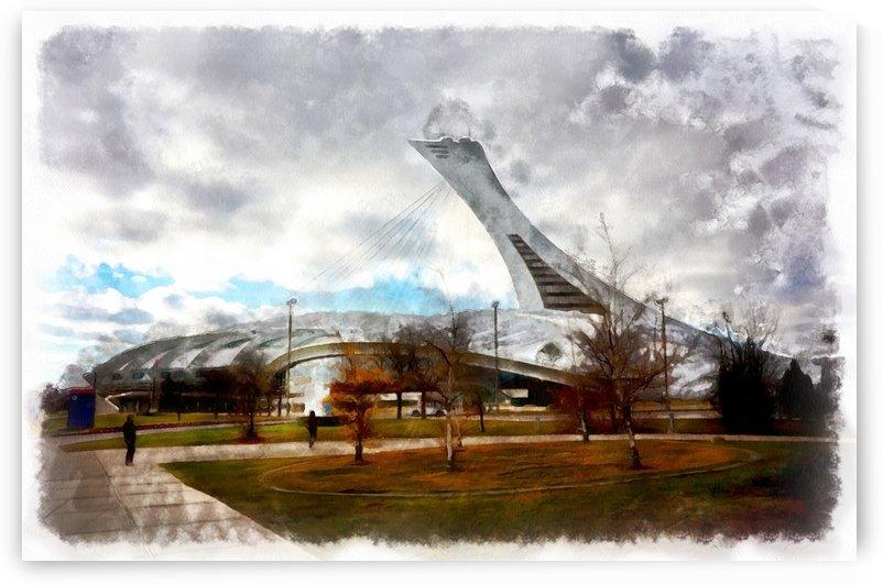 Olympic Stadium - Montreal by Robert Knight