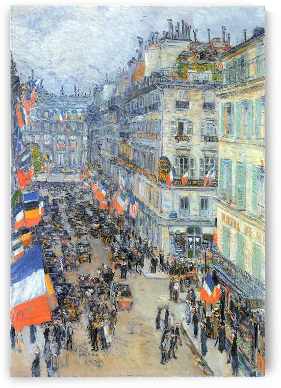 The 14th July, Rue Daunou by Hassam by Hassam