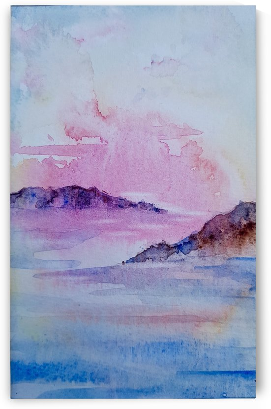 Sunset over Corsica by Jackie Rimmer