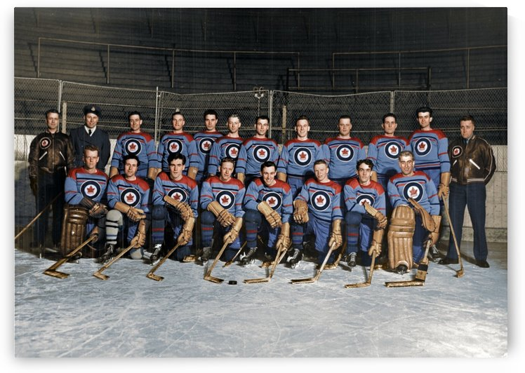 RCAF Flyers - Canadian Olympic Hockey Team October 29 1947 by Canadian Colour