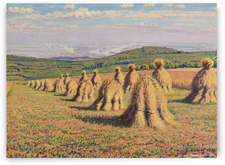Haystacks (2) by Gustave Cariot