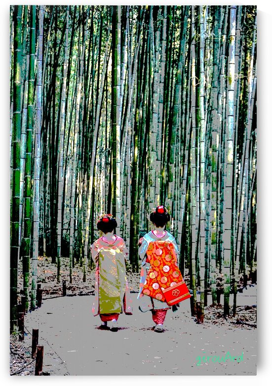 Geishas in bamboo forest 2 by girouArd