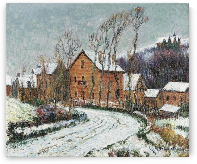 The Snow at Puys near Dieppe by Gustave Loiseau