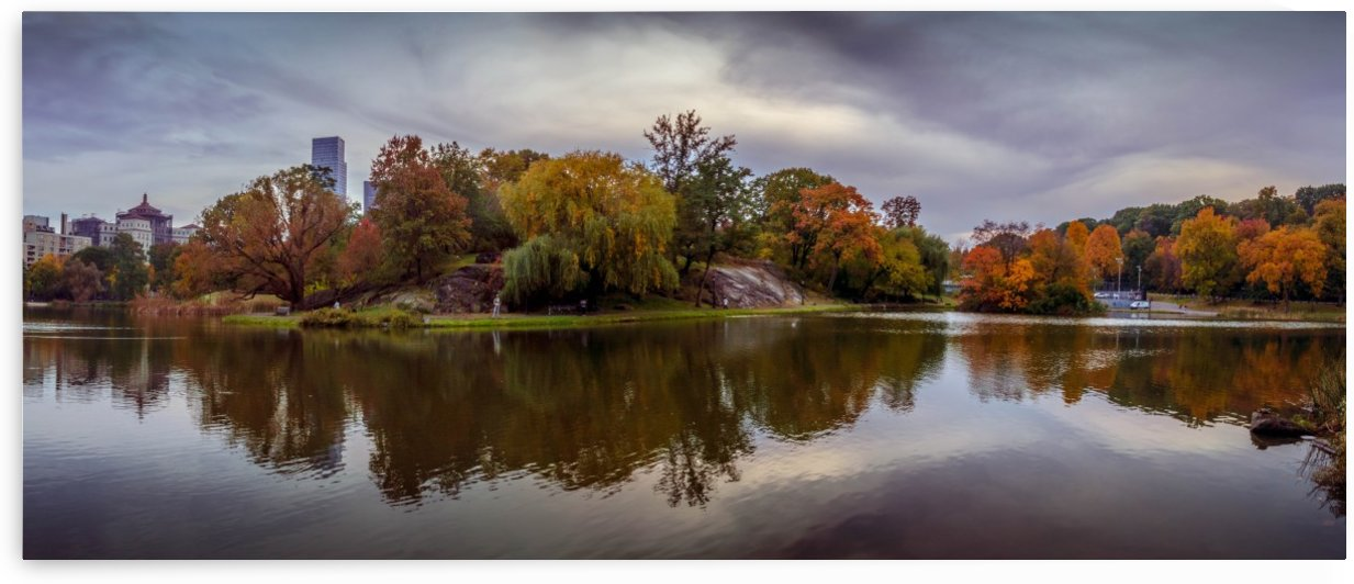 Central park lake panorama by Aleksandr Vaysberg