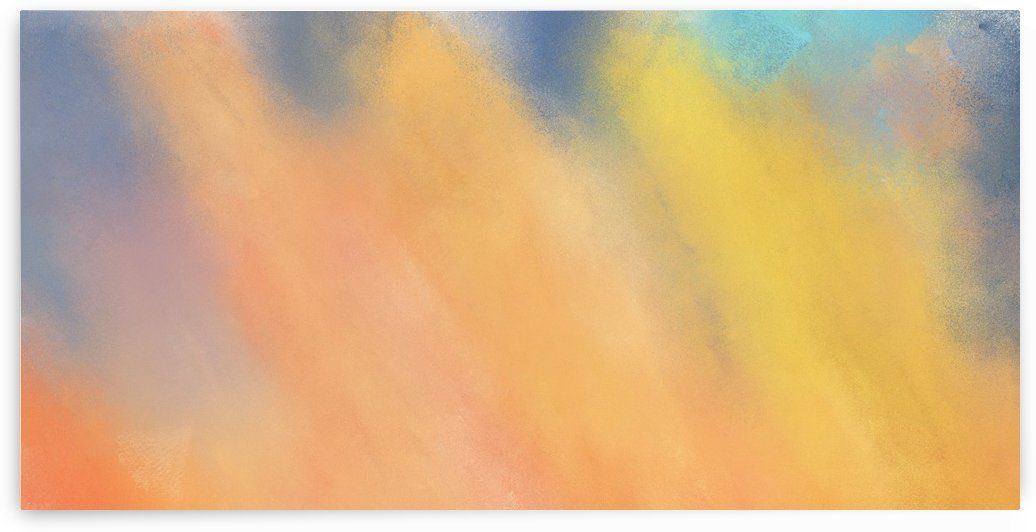 painted brushed artwork with orange color by eigens