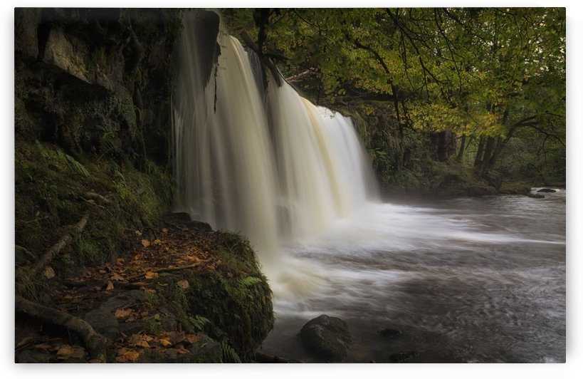 Autumn at Sgwd Ddwli Isaf waterfall by Leighton Collins