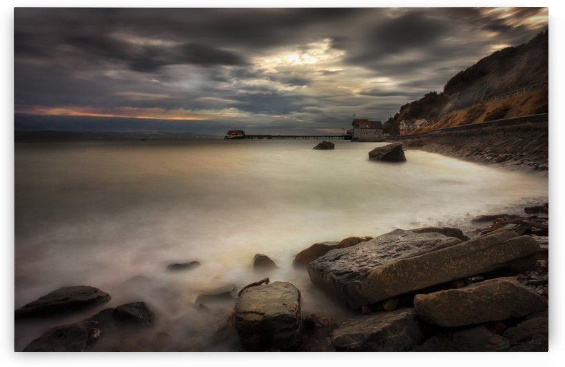 High tide at Mumbles by Leighton Collins