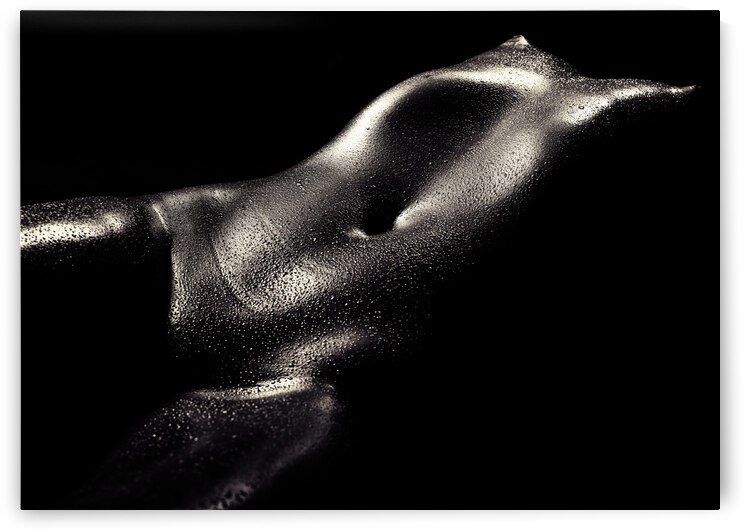 Woman wet bodyscape 2 by Johan Swanepoel