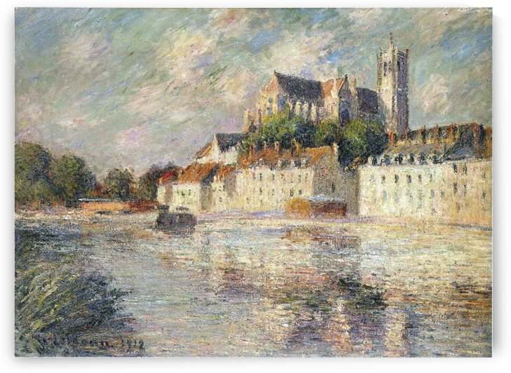 The Cathedral at Auxserre by Gustave Loiseau
