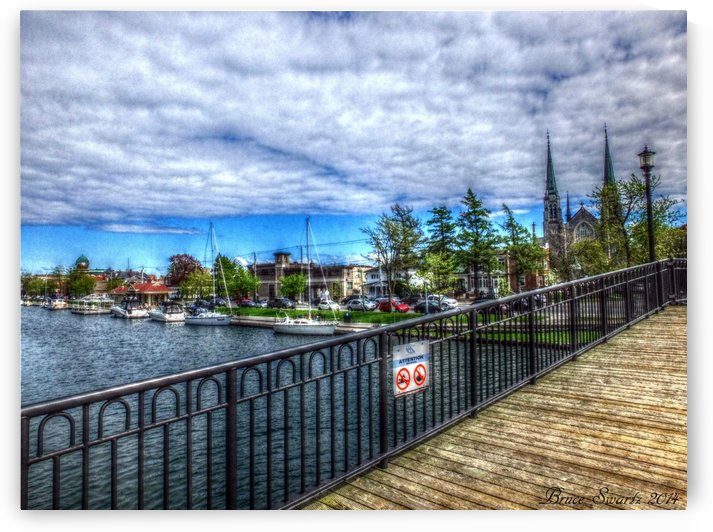 On The Boardwalk in HDR by Bruce Swartz