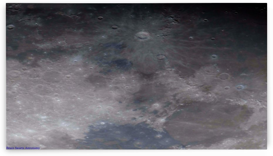 Copernicus Lunar Mint Greens by Bruce Swartz