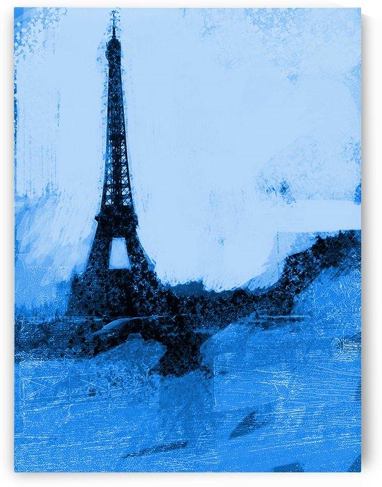 Paris Icon in Cyan by Sarah Butcher