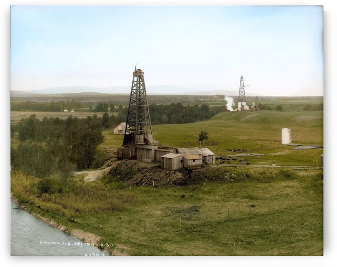 Turner Valley Alberta - 1914 by Canadian Colour