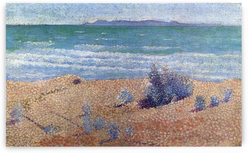 Mediterranian Coast Seascape by Henri Edmond Cross
