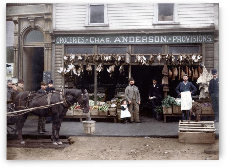 Chas Anderson Grocery Vancouver 1890s by Canadian Colour
