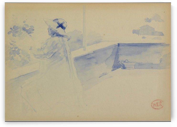 Woman on a Balcony by Henri Edmond Cross