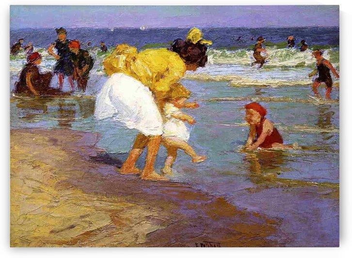 At the Seashore by Henri Edmond Cross
