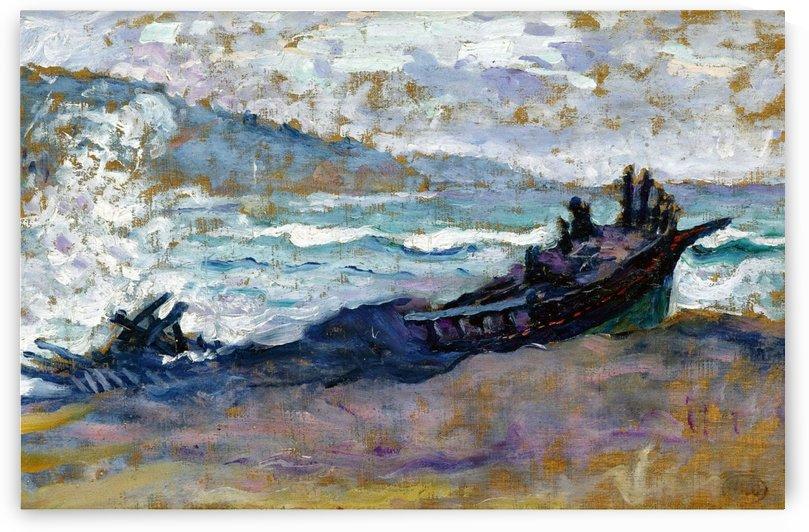 Old Boat on the Sand by Henri Edmond Cross