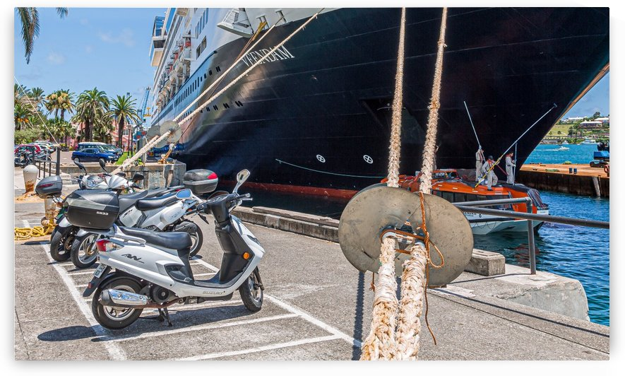 Mooring LIne and Mopeds by Darryl Brooks