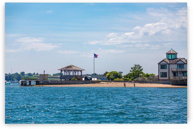 Pavilion on Newport Beach by Darryl Brooks