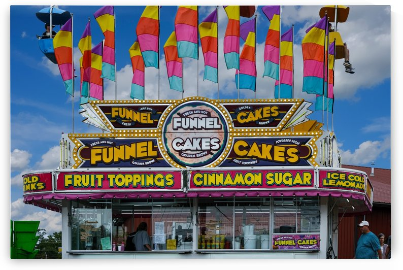 Funnel Cakes at Fair by Darryl Brooks
