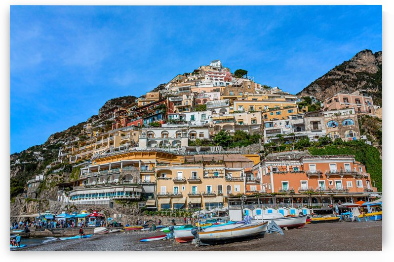 Positano from the Beach by Darryl Brooks