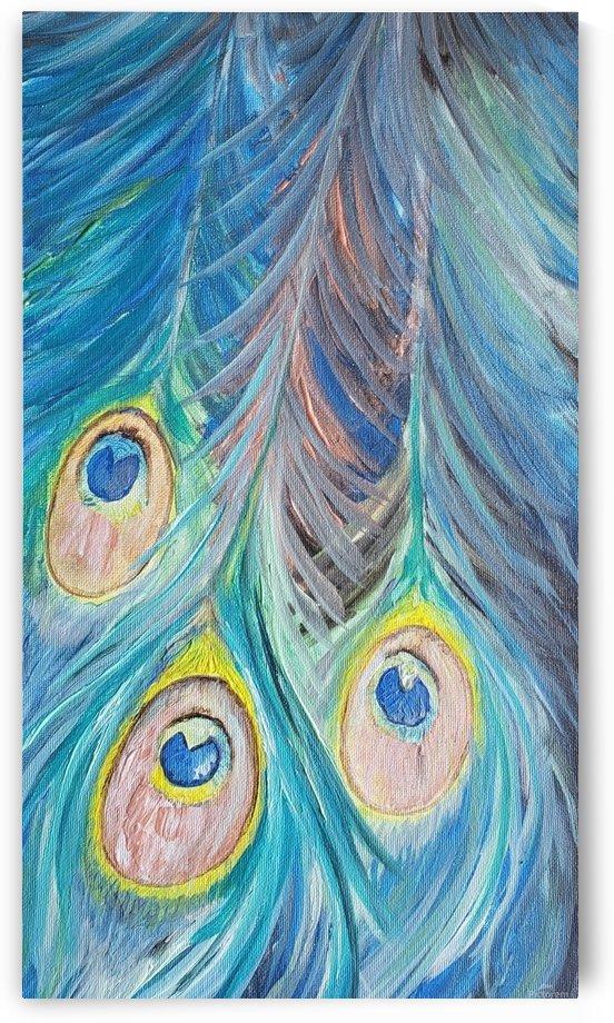Peacock Feathers  by Lynn Buckmaster