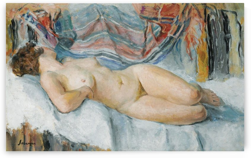Nude on the Bed by Henri Lebasque