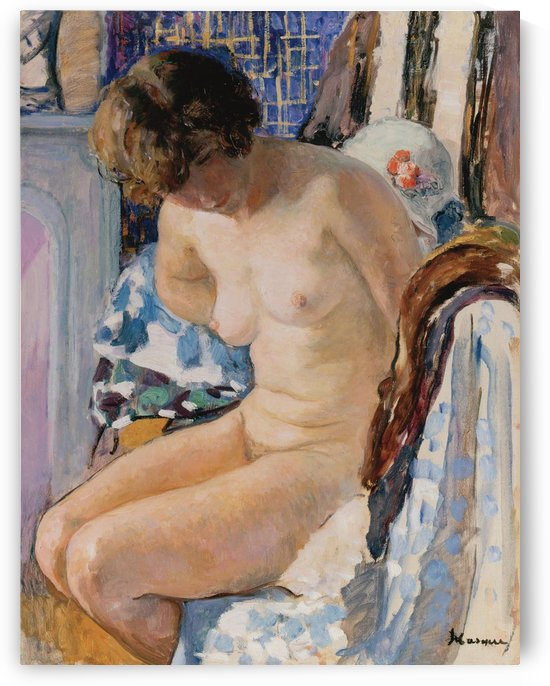 Female Nude Seated by Henri Lebasque