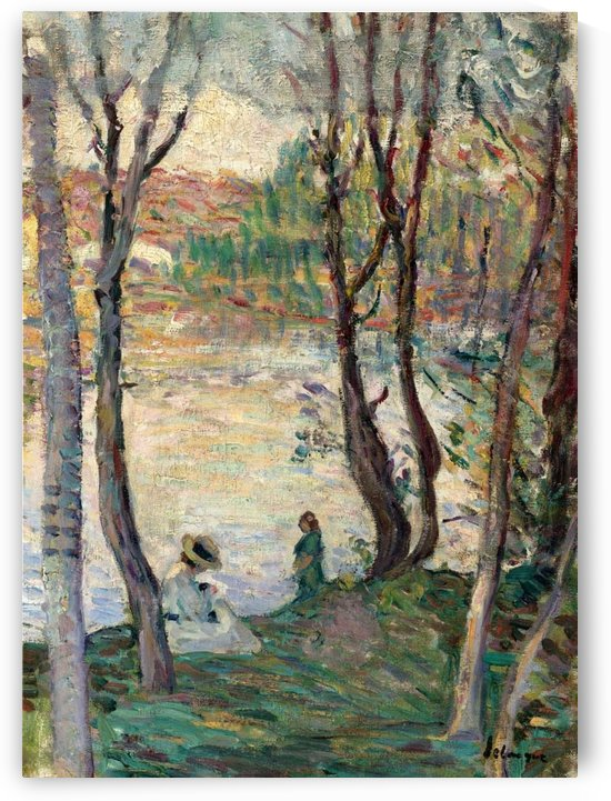 Resting at the Bank of Yaudet by Henri Lebasque