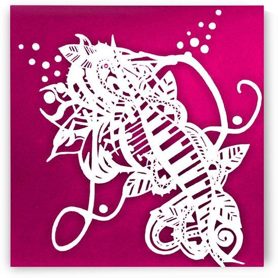 Cheval de mer rose by Jodygraphe