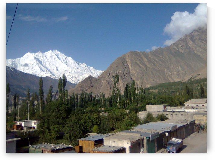 Rakaposhi Peak view from Aliabad Gilgit Baltistan Pakistan by Hafiz Muhammed Usman
