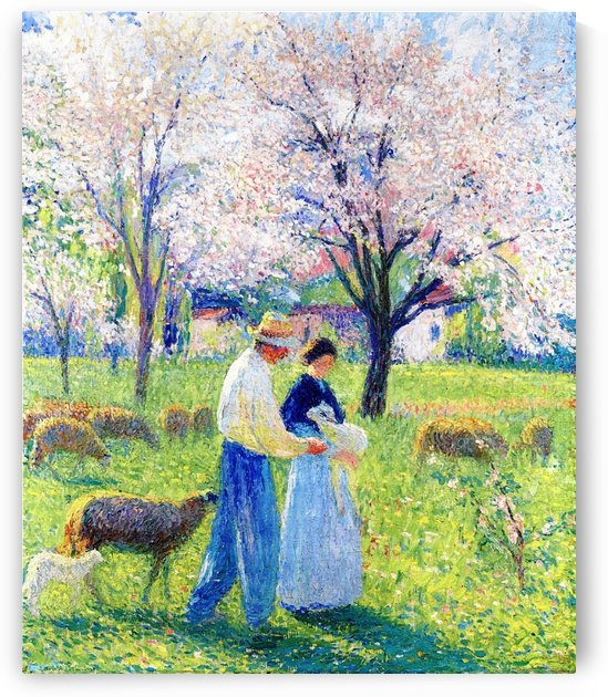 Lovers at Spring by Henri Martin