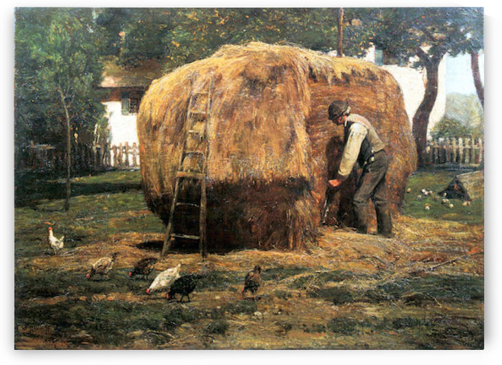 The Barnyard by Hassam by Hassam