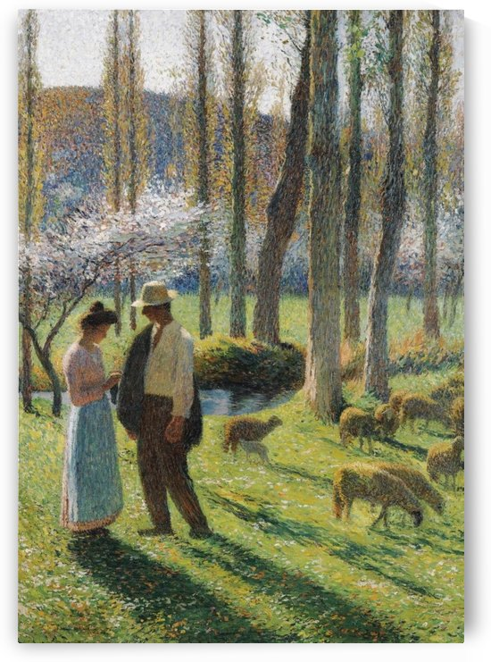 A Peasant and a Girl by Henri Martin