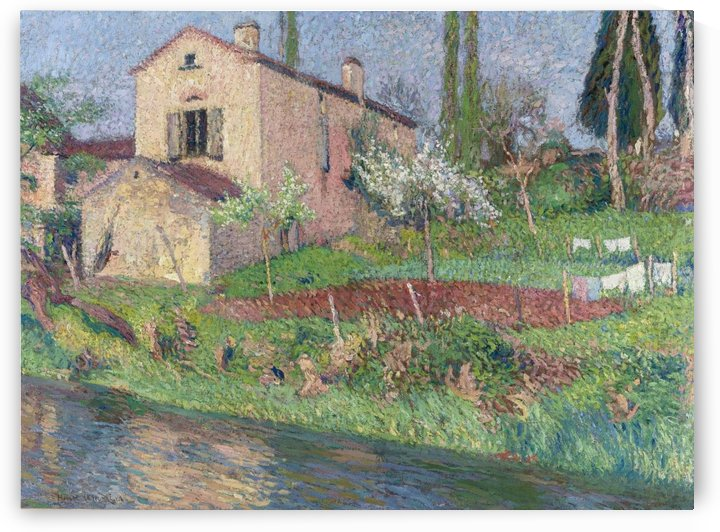 The House of Marie-Louise in Spring at Labastide-du-Vert by Henri Martin