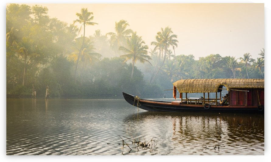 Boathouse in the Backwaters by Em Campos