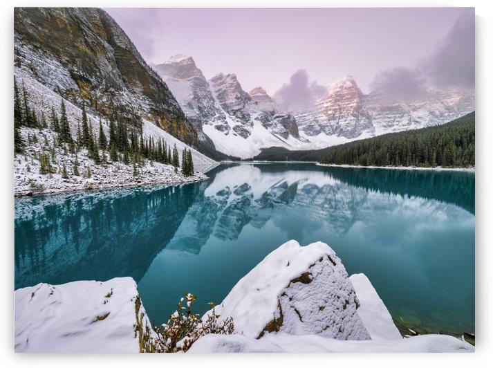 Lake Moraine Early Morning by Pinaki B