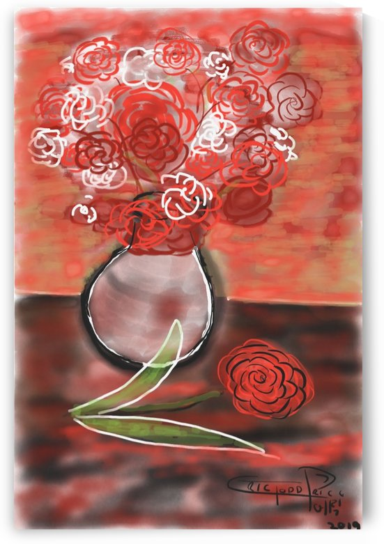 Flower next to vase by Eric  Todd Price