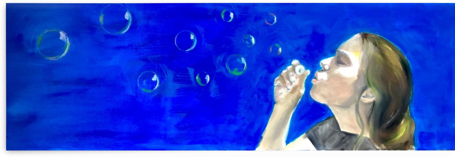 Blowing bubbles by Jackie Rimmer