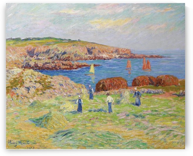Hay Stacking at the Port of Doelan by Henry Moret