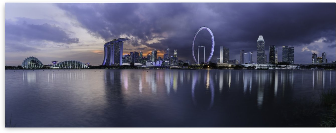 Singapore skyline across the bay by Em Campos